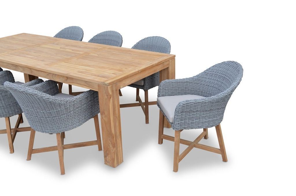 "Recent Outdoor Sienna Dining Tables For Sienna"" Bay 10 Outdoor Teak 3.3M Dining Table With Chairs (Gallery 12 of 20)"