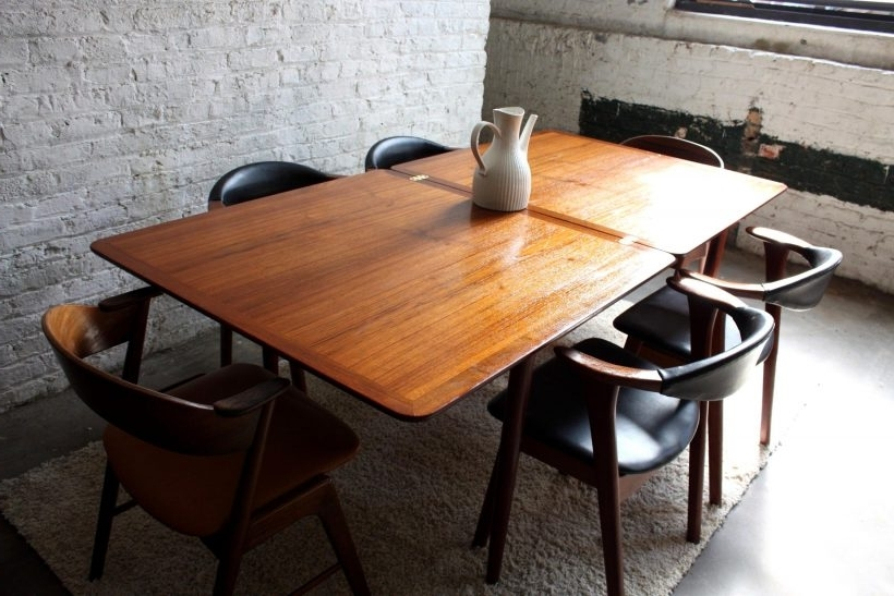 Recent Phenomenal Dining Set Black Natural Kitchen Tables Ng Dining Table With Regard To Natural Brown Teak Wood Leather Dining Chairs (View 10 of 20)