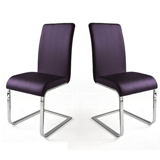 Recent Purple Faux Leather Dining Chairs For Lotte I Violet Faux Leather Dining Chair In A Pair (View 18 of 20)