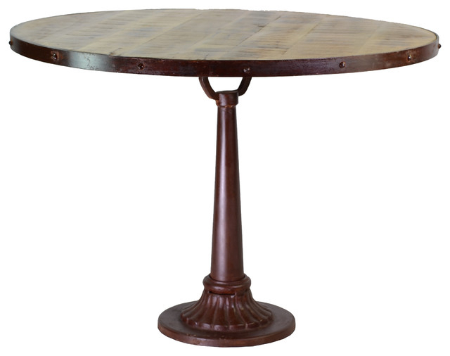 Recent Reclaimed Mango Wood Iron Dining Table – Traditional – Dining Tables Regarding Mango Wood/iron Dining Tables (View 11 of 20)