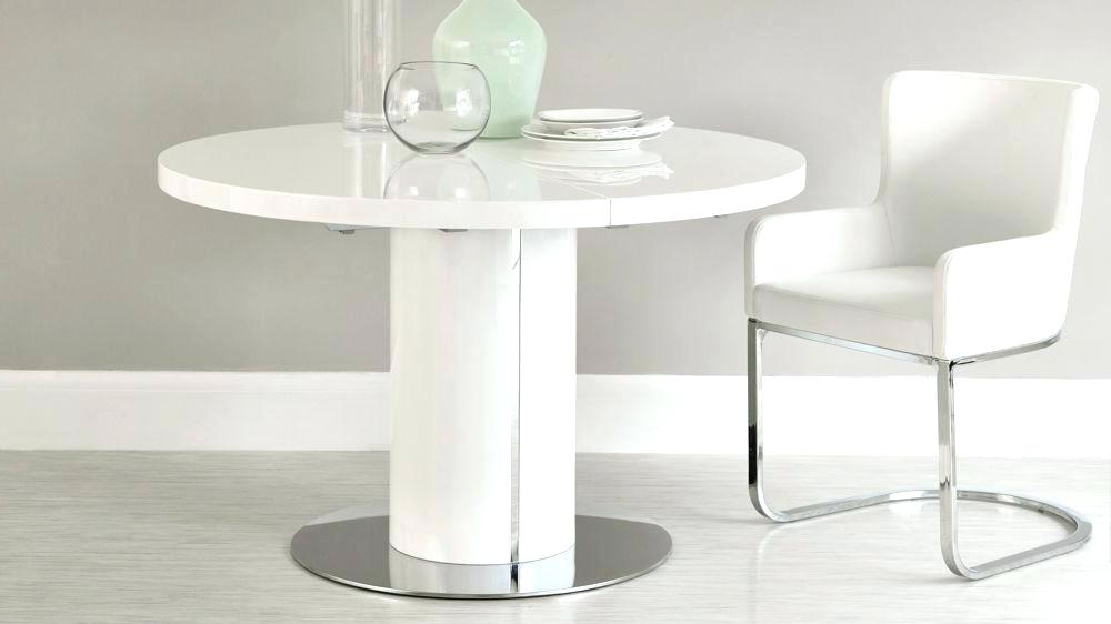 Recent Round Pedestal Extending Dining Table Round White Gloss Extending Regarding White Round Extending Dining Tables (View 10 of 20)