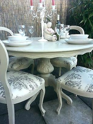 Recent Shabby Dining Tables And Chairs In Rustic Shabby Chic Dining Table Medium Size Of Best Shabby Chic (View 3 of 20)