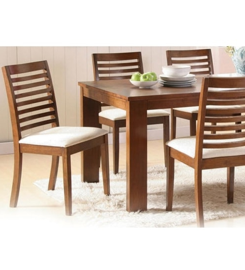 Recent Sheesham Wood Dining Chairs With Basil Sheesham Wood Dining Set For Sixmudramark Online – Dining (View 15 of 20)