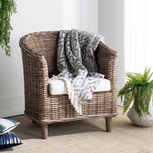 Recent Shop Safavieh 'omni' Natural Wood Barrel Chair – On Sale – Free With Regard To Omni Side Chairs (View 19 of 20)