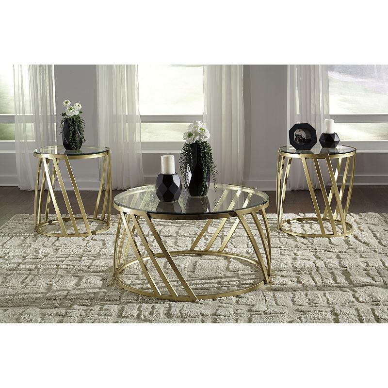 Recent Signature Designashley 3 Piece Austiny Coffee Table Set (View 17 of 20)