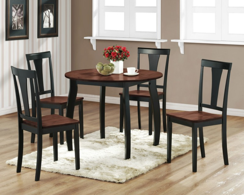 Recent Small Round Dining Table With 4 Chairs In Kitchen Small Rectangular Kitchen Table Sets Kitchen Dining (Gallery 4 of 20)