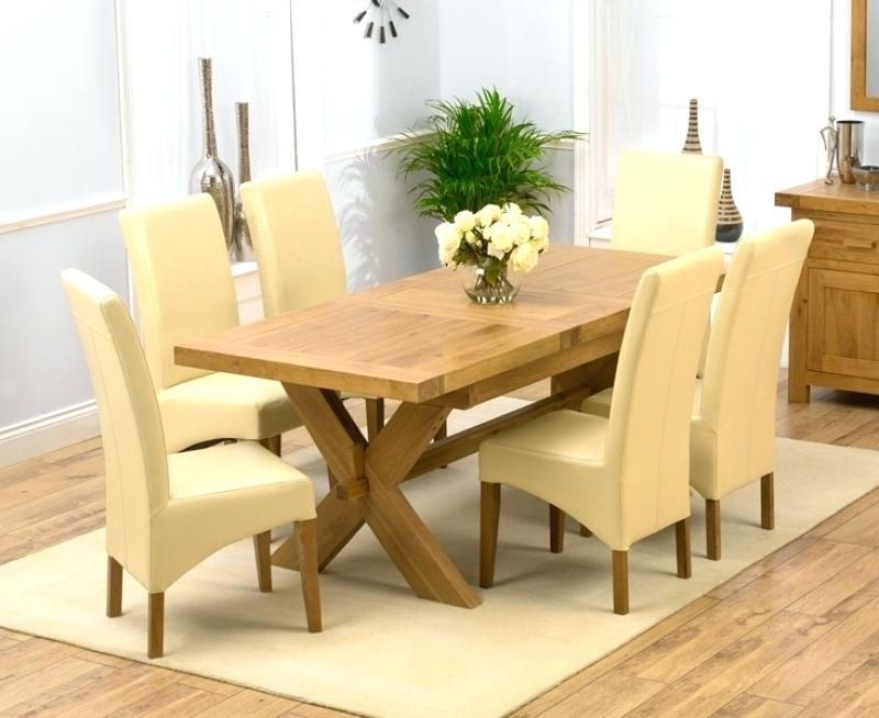 Recent Solid Oak Dining Room Chairs Large Oak Dining Table And Chairs Regarding Oak And Glass Dining Tables And Chairs (Gallery 18 of 20)