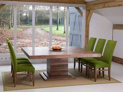 Recent Square Dining Tables In Solid Oak & Walnut, Extending Square Tables Throughout Square Dining Tables (View 8 of 20)