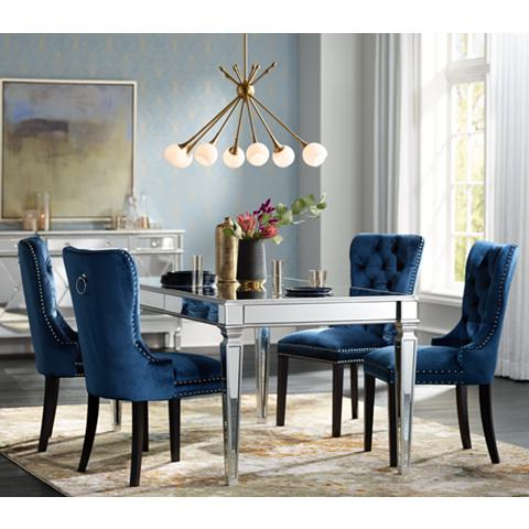 Recent Veronica Silver And Mirror Dining Table – Goodglance Regarding Mirrored Dining Tables (View 18 of 20)