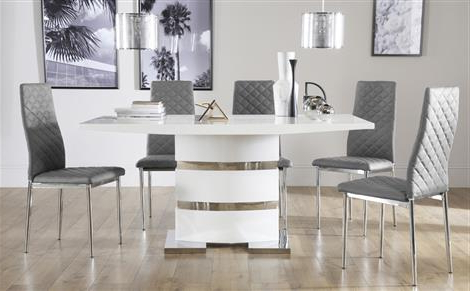 Recent White Dining Table And Chairs (Gallery 10 of 20)