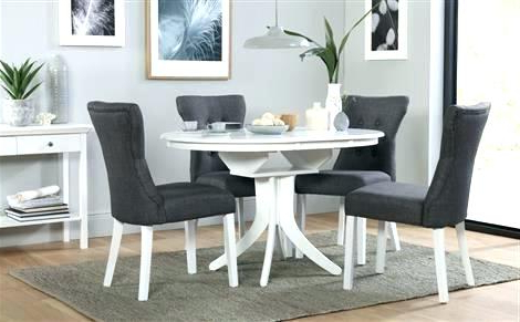 Recent White Extendable Dining Table And Chairs White Dining Table Round Throughout White Extendable Dining Tables (View 11 of 20)