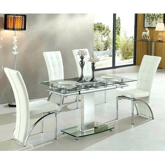 Recent White Glass Dining Table Extending – Long Computer Desk Crystalbank (View 20 of 20)