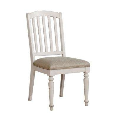 Recent Wood – White – Linen – Accent Chairs – Chairs – The Home Depot Pertaining To Chandler Fabric Side Chairs (Gallery 5 of 20)