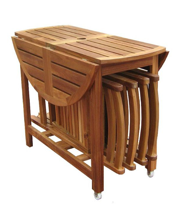 Recent Wooden Folding Kitchen Table Modern Minimalist Dining Furniture Pertaining To Wood Folding Dining Tables (View 13 of 20)