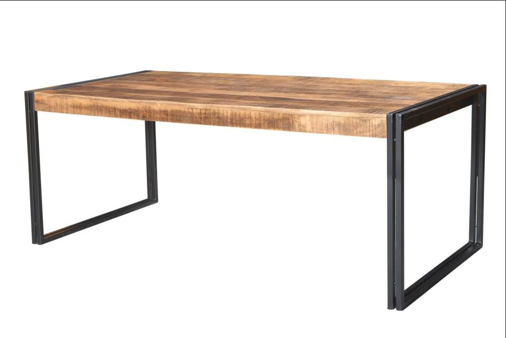 Reclaimed Wood Dining Table With Metal Legs (View 2 of 20)