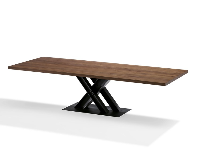 Rectangular Solid Wood Dining Table Victordraenert Design Pertaining To Fashionable Victor Dining Tables (View 14 of 20)