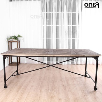 Recycled Wood Dinner Table Vintage Industrial Style Dining Tables With Fashionable Industrial Style Dining Tables (View 19 of 20)