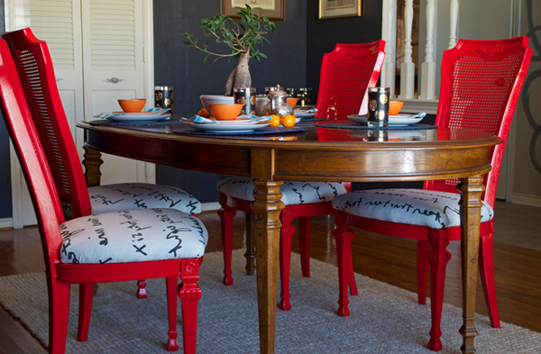 Red Dining Chairs Regarding Best And Newest 15 Dining Room Designs With A Red Touch (View 9 of 20)