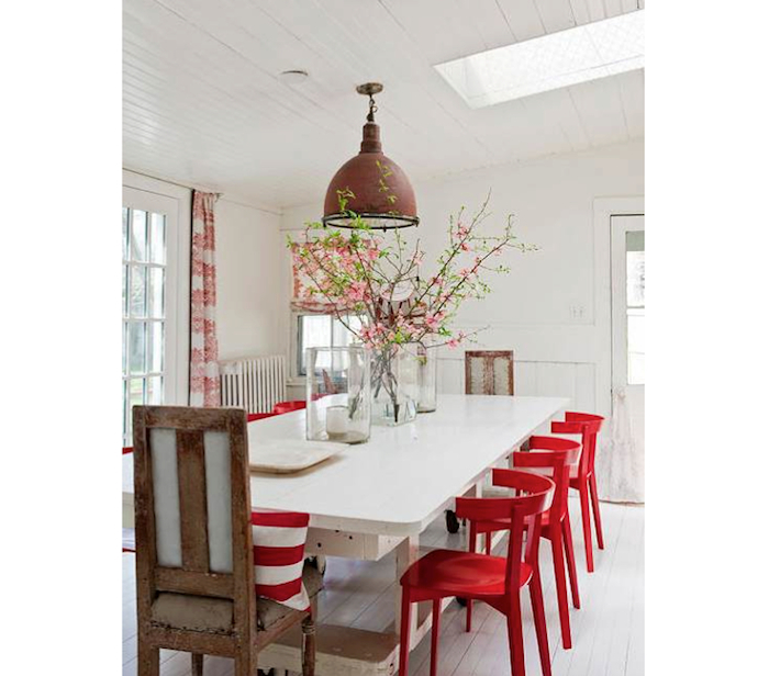 Red Dining Chairs Throughout Well Known 10 Easy Pieces: Red Dining Chairs – Remodelista (Gallery 5 of 20)