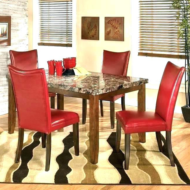 Red Dining Table Sets For Most Popular Red Dining Room Table And Chairs Small Dining Table With Chair (View 13 of 20)