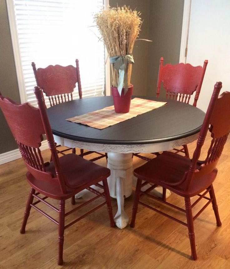 Red Dining Table Sets For Trendy Best + Red Kitchen Tables Ideas On Antique Kitchen Kitchen Tables (View 7 of 20)