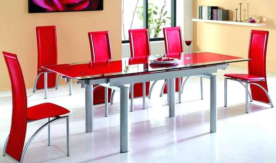 Red Dining Table Sets With Most Recent Red Dining Tables Inspiring Table Sets Glass For Lift Top Coffee (View 6 of 20)