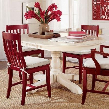 Red Dining Tables And Chairs With 2017 Paint Dining Table And Chairs With Rust Oleum 2X Cranberry (View 14 of 20)