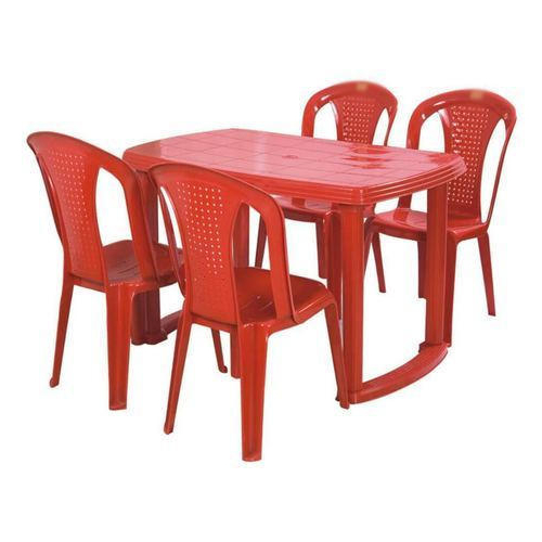 Red Plastic Table Chair Set, Rs 2400 /set, Hanumant Industries (View 16 of 20)
