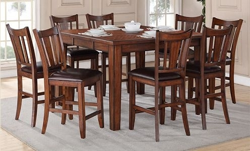 Regal Living Chandler 9 Piece Counter Height Dining Set (Gallery 7 of 20)