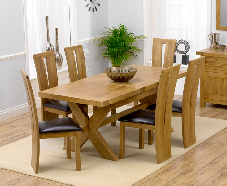 Remarkable Extending Dining Table And 6 Chairs Solid Oak Leather For Widely Used Light Oak Dining Tables And 6 Chairs (View 17 of 20)