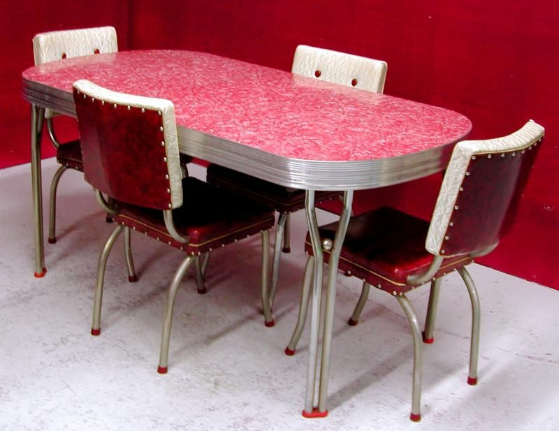 Retro Dining Tables Throughout Latest Chrome And Formica Dining Sets (View 10 of 20)