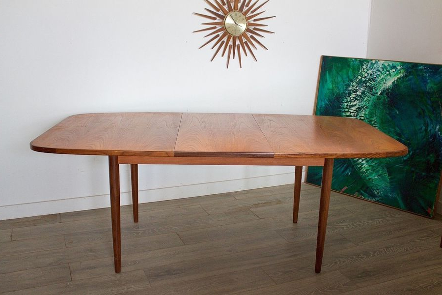 Retro Extending Dining Tables Inside 2017 Mid Century Retro Danish Style G Plan Teak Extending Dining Table (View 12 of 20)