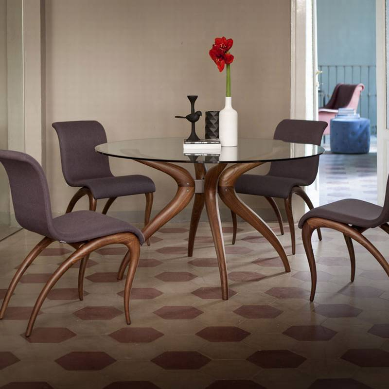 Retro Glass Dining Tables And Chairs Regarding Popular Retro Glass Dining Table Set – Dining Tables Ideas (View 2 of 20)