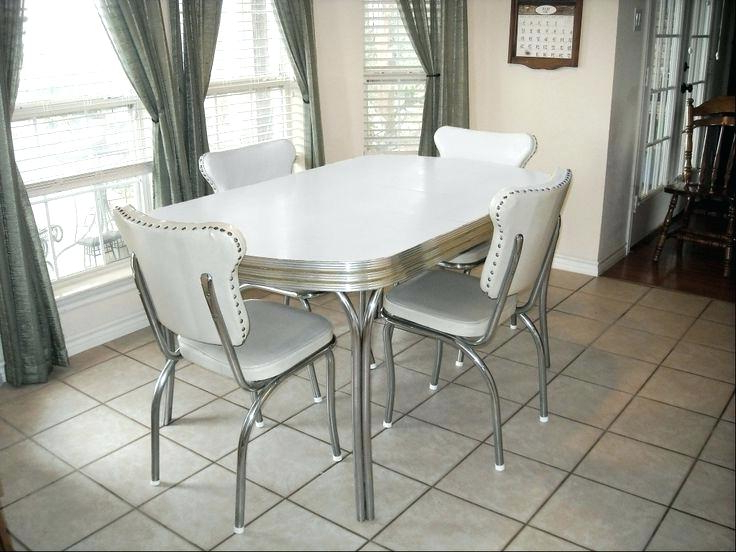 Retro Kitchen Table And Chairs Brilliant Home Design Stunning Diner Inside Newest Retro Dining Tables (Gallery 12 of 20)