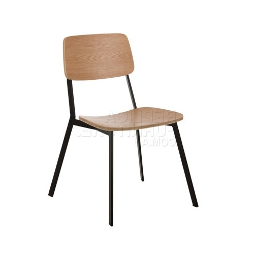 Retro Plywood Chair – Metal Cafe Chairs Regarding Well Known Plywood & Metal Brown Dining Chairs (View 2 of 20)