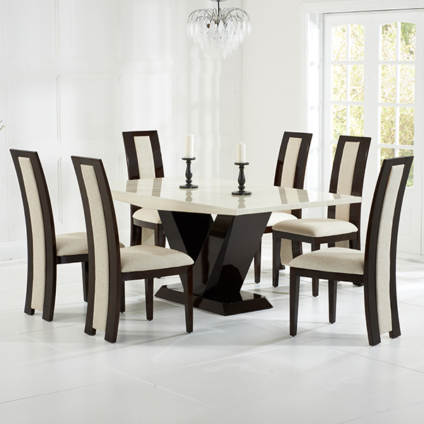 Riviera Brown High Gloss Dining Chairs Pair – Robson Furniture In 2017 Cream Gloss Dining Tables And Chairs (View 17 of 20)