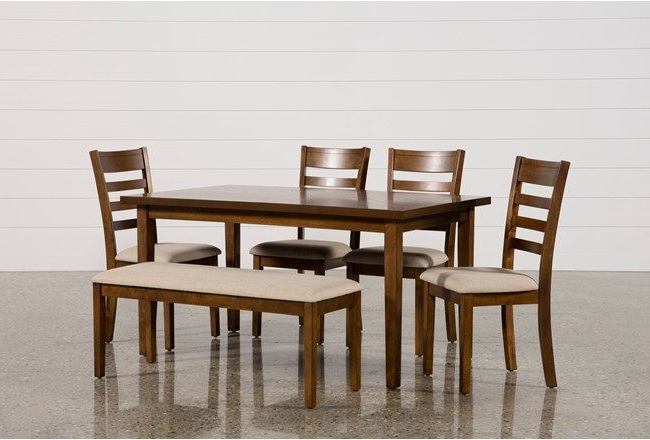 Rocco 7 Piece Extension Dining Sets With Regard To Well Known Patterson 6 Piece Dining Set, Brown (View 16 of 20)