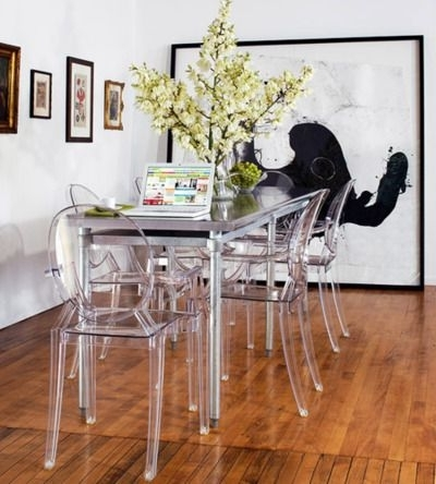 Rocking Similar Clear Plastic Chairs In My Dining Room! They Really Inside Latest Clear Plastic Dining Tables (Gallery 8 of 20)