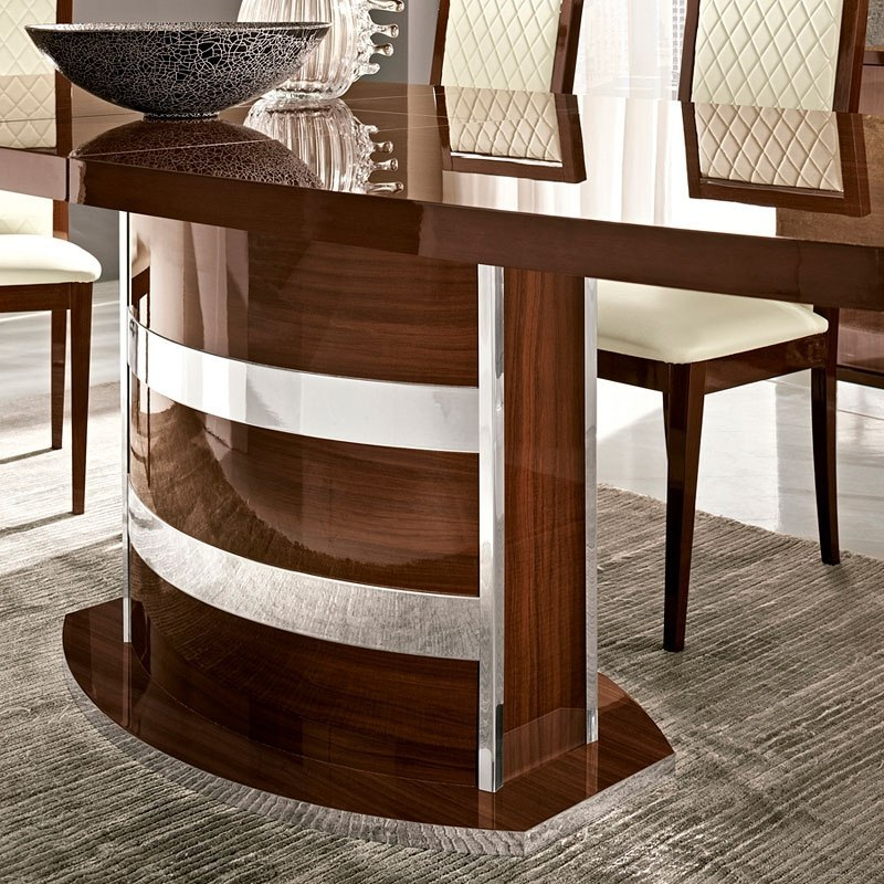 Roma Dining Tables For Fashionable Roma Dining Table (Walnut) Esf Furniture (View 12 of 20)