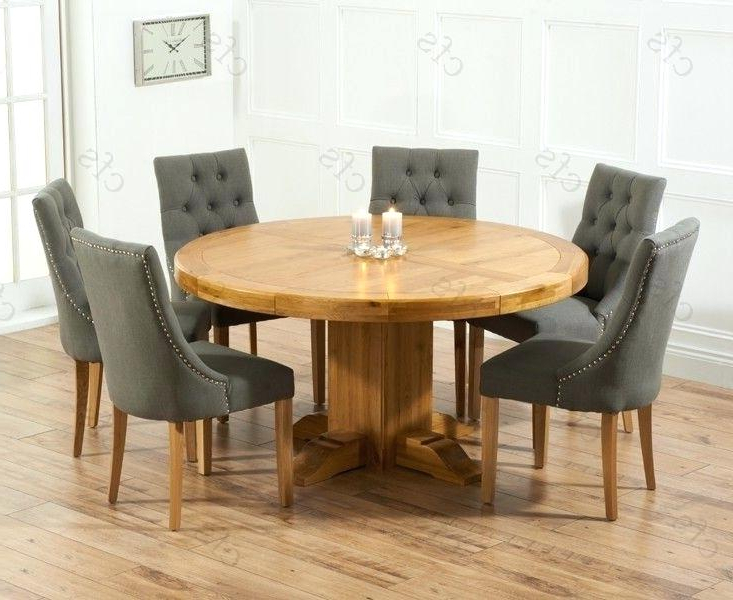 Round 6 Seater Dining Tables Pertaining To Fashionable Stylish Round Dining Table For 6 And Chairs On Glass With Amazing (View 16 of 20)