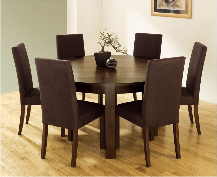 Round 6 Seater Dining Tables With Regard To Current Stunning Minimalist Home Design Decorative 6 Seater Dining Tables (View 13 of 20)