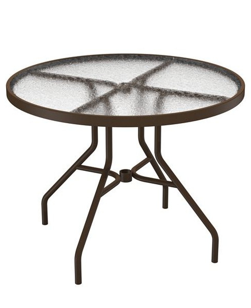 Round Acrylic Dining Tables In Trendy 36″ Round Dining Table – Acrylic Top – Dinette & Patio Furniture (View 20 of 20)