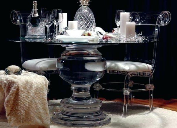 Round Acrylic Dining Tables Pertaining To Well Known Acrylic Dining Table And Chairs Acrylic Dining Table Chairs Love (View 9 of 20)