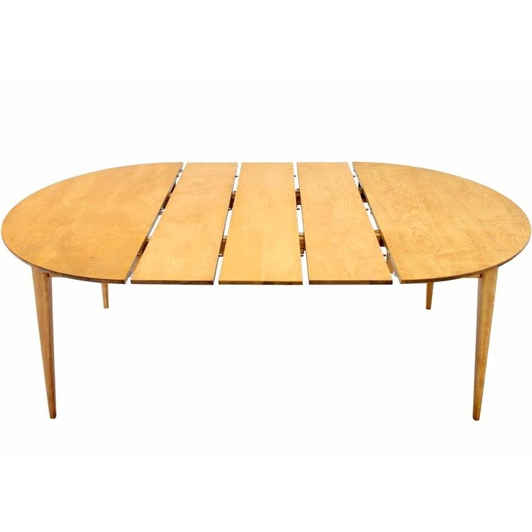 Round Birch Dining Table With Three Leaves At 1Stdibs Inside 2017 Birch Dining Tables (Gallery 3 of 20)