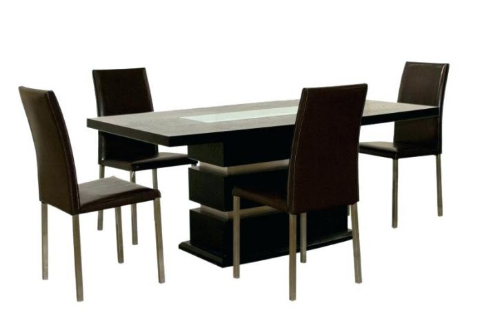 Round Black Glass Dining Tables And 4 Chairs Throughout 2017 Round Black Glass Dining Table Set 6 Seater And Chairs Room With Six (View 18 of 20)
