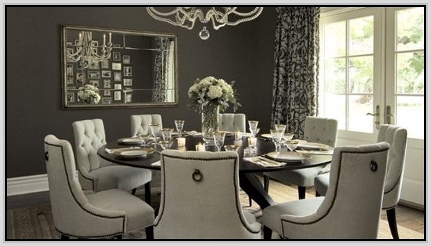 Round Dining Table For 8 With Lazy Susan (View 5 of 20)