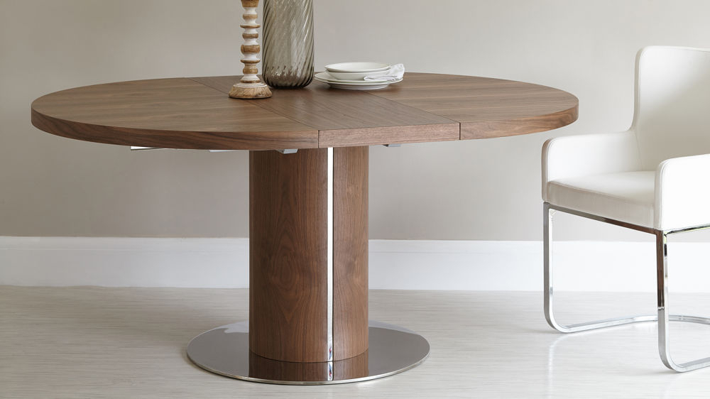 Round Extending Dining Table And Eames Style Dining Chairs For Most Current Extending Dining Sets (View 15 of 20)