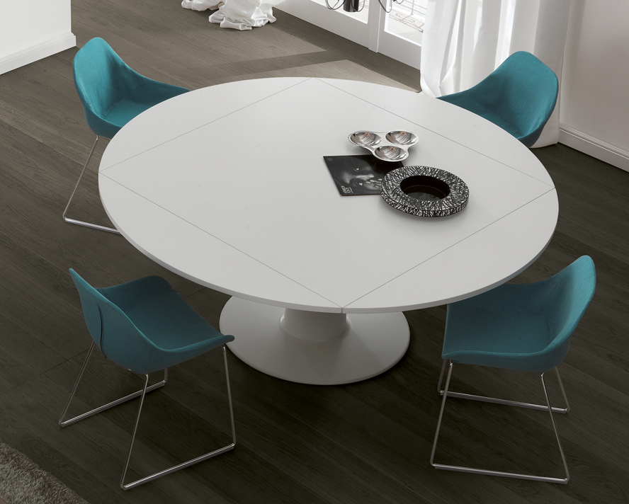 Round Extending Dining Tables Regarding White Round Extendable Dining Tables (View 10 of 20)