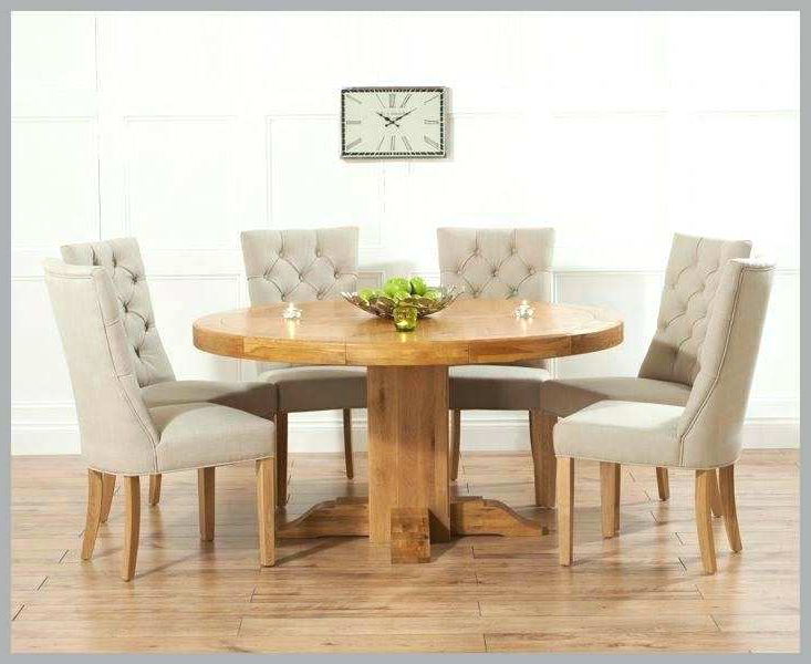 Round Extending Oak Dining Table And Chairs – Kuchniauani Inside Best And Newest Round Extending Oak Dining Tables And Chairs (View 11 of 20)