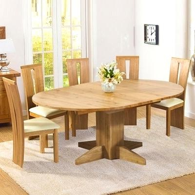 Round Extending Oak Dining Tables And Chairs With Most Recent Inspiring Extending Solid Oak Dining Table Monty Solid Oak Extending (View 17 of 20)